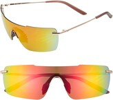 Nike Meridian 57mm Mirrored Flat Top Shield Sunglasses
