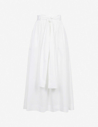Bec & Bridge St. Silvie tie-belted cotton midi skirt