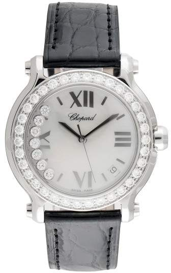 Chopard Happy Sport Round Stainless Steel Quartz 36mm Womens Watch