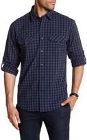 James Campbell Bueno Gingham Print Woven Regular Fit Shirt