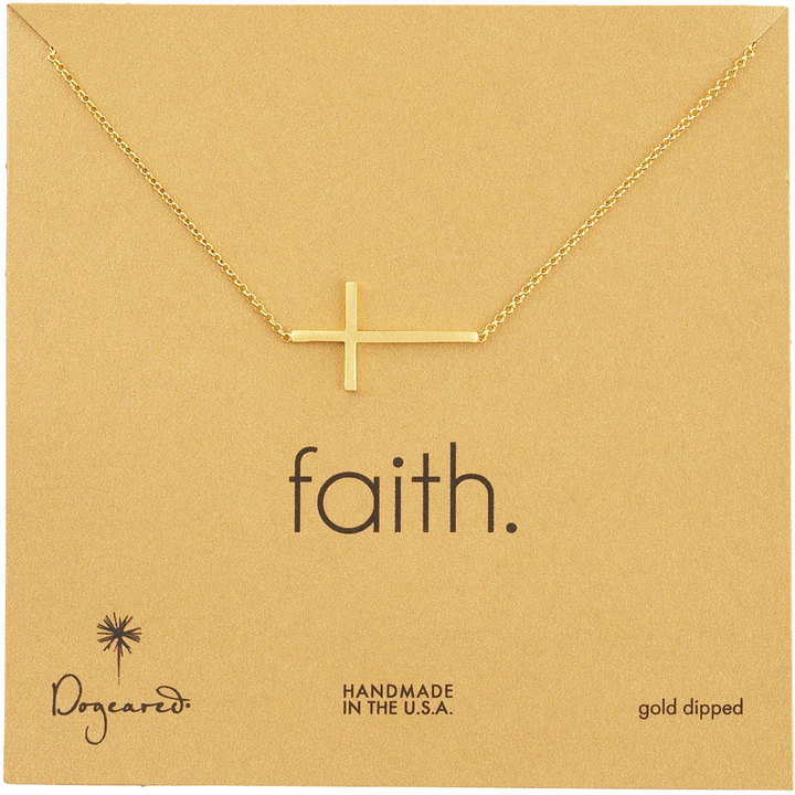 Dogeared Integrated Cross Pendant Necklace