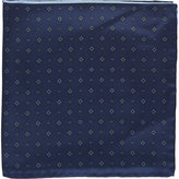 Fairfax Men's Colorblock Medallion Pocket Square-NAVY