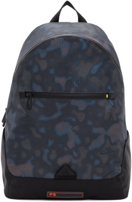 Paul Smith Black Heat Map Camo Backpack
