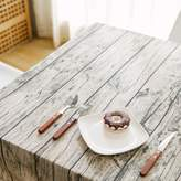 M0040855 Outdoor wood brk-like striped cotton/ rectngulr bckground photo photogrphy/ linen tblecloth