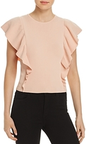 Lucy Paris Ruffled Rib-Knit Sweater