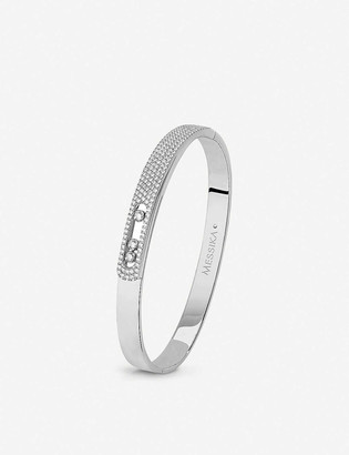 Messika Move Noa 18ct white-gold and pave diamond bangle