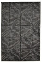 Linon Milan Collection Black/ Grey Abstract Area Rug (8' x 10'3)