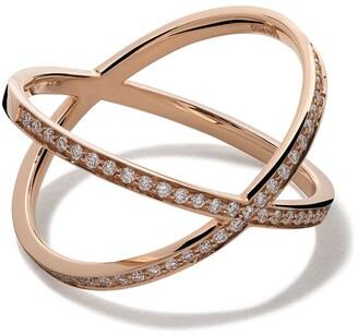 VANRYCKE 18kt rose gold and diamond Coachella ring