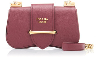 Prada Saffiano Lux Textured-Leather Shoulder Bag