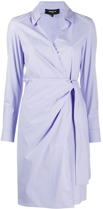 Paule Ka Tied-Waist Shirt Dress