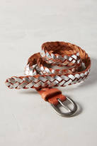 Linea Pelle Braided Metallic Belt