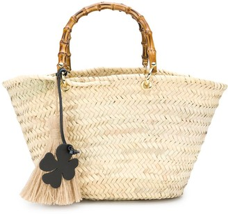 Danielapi Bamboo-Handle Tote Bag