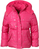 Pink Platinum Pink Glo Star Puffer Coat - Infant & Girls