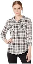 Elliott Lauren Claid in Plaid Pullover Shirt (Ivory/Grey) Women's Clothing