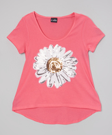 A Wish Hot Pink & White Daisy Tee - Toddler & Girls