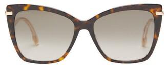 Jimmy Choo Selby Cat-eye Tortoiseshell-acetate Sunglasses - Womens - Tortoiseshell