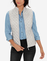 The Limited Eva Longoria Quilt Patterned Vest
