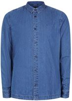 Topman Waven Dark Blue Denim Shirt*