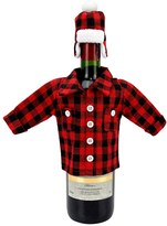 Celebrate Fall Together Plaid Wine Bottle Cover
