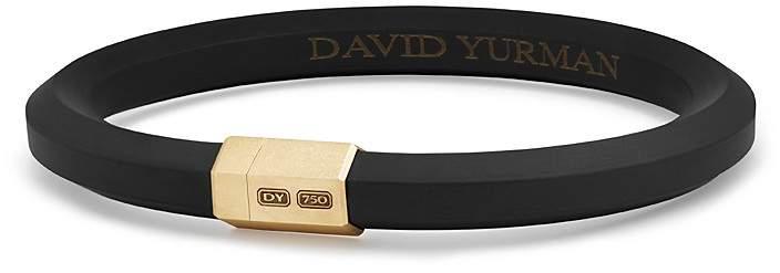 David Yurman Men's Hex Bracelet in Black with 18K Gold