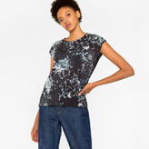 Paul Smith Women's Black Sleeveless T-Shirt With 'Moon And Stars' Print