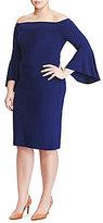 Lauren Ralph Lauren Plus Off-the-Shoulder Bell Sleeve Dress