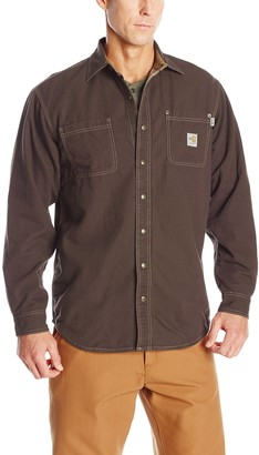 Carhartt Men's Big & Tall Flame Resistant Canvas Shirt Jacket