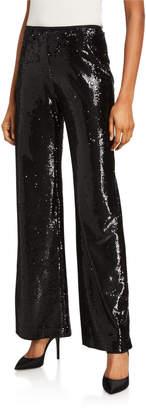 Nanette Lepore Pasha Sequin Wide Leg Pants