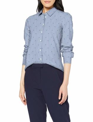 Seidensticker Women's Hemdbluse Langarm Modern fit Bugelleicht Streifen Stretch - Baumwollmischung Blouse