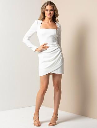 Forever New Cara Long-Sleeve Mini Dress - Porcelain - 10