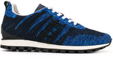 Bikkembergs lace-up sneakers - men - Calf Leather/Leather/Nylon/rubber - 41