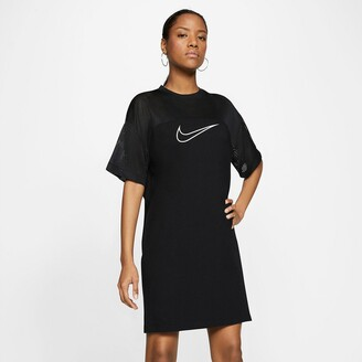 Nike Cotton Dual Fabric Dress with Short Sleeves