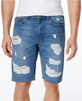 American Rag Men's Slim Fit Ripped Denim Shorts, Only at Macy's