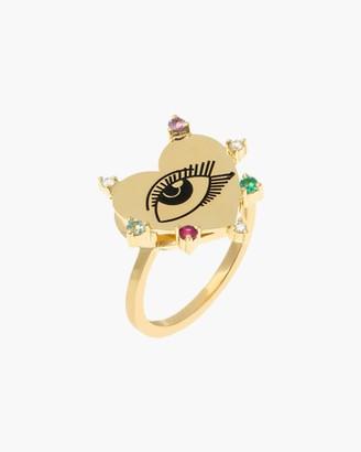 Carolina Neves Heart Eye Ring