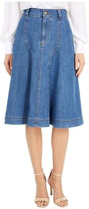 See by Chloe Mid Length Denim Skirt (Deep Denim) Women's Skirt