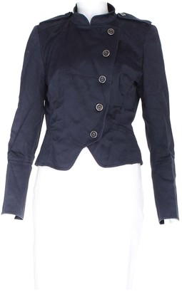 Karen Millen Navy Cotton Jackets