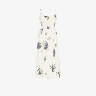 Reformation Scoop Neck Floral Midi Dress