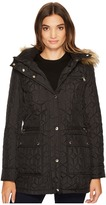 Calvin Klein Quilted Jacket with Fur Trimmed Hood Women's Coat