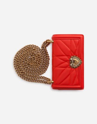Dolce & Gabbana Devotion Phone Cover In Matelasse Nappa Leather