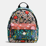 Coach Mini Campus Backpack In Multi Floral Print Leather