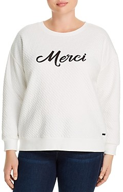 Marc New York Plus Marc New York Performance Plus Quilted Graphic Sweatshirt