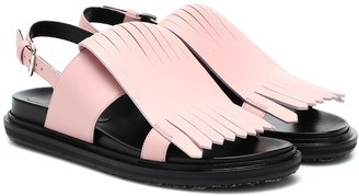 Marni Fringed leather sandals