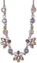 Givenchy Multi Color Floral Crystal Necklace