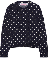 Comme des Garcons Polka-dot Intarsia Wool Sweater - Navy
