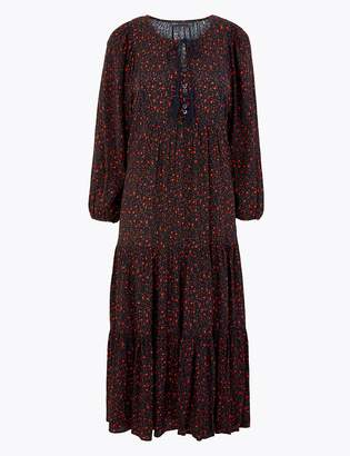 Marks and Spencer Ditsy Print Relaxed Midi Dress