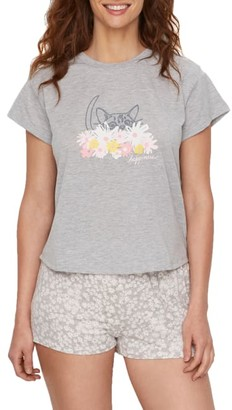 ED Ellen Degeneres Love Is All Around Knit Pajama Set