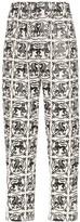 Edward Crutchley x Woolmark heraldic animal print trousers