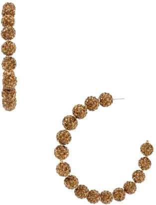 Miriam Haskell Caviar Beaded Hoop Earrings