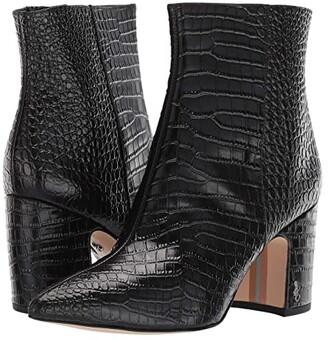 Sam Edelman Hilty 2 (Black Kenya Croco Emboosed Leather) Women's Shoes