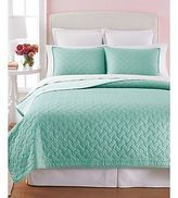 Martha Stewart Collection Basket Stitch Reversible King Quilt Aqua W1810